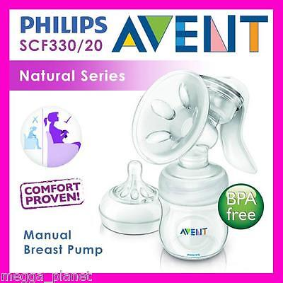 Philips Avent Natural Manual Breast Pump SCF330/20 4oz Bottle Compact 0-6months