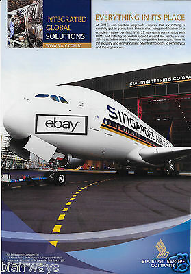 Singapore Airlines Airbus A380 Sia Engineering Company Ad