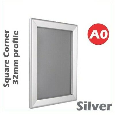 Brand New A0 Heavy Duty Silver Square Corner Snap Frame / Poster Frame  32mm