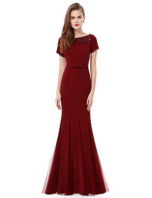 Ever Pretty Women's Long Formal Party Mermaid Evening Formal Dress Tulle  08699