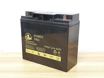 NEW 12V 20AH AGM SLA DEEP CYCLE Battery SCOOTER GOLF CART BUGGY wheelchair 18AH