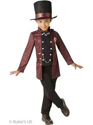 Willy Wonka Boys Factory Owner New Fancy Dress Kids Book Week Childrens Costume