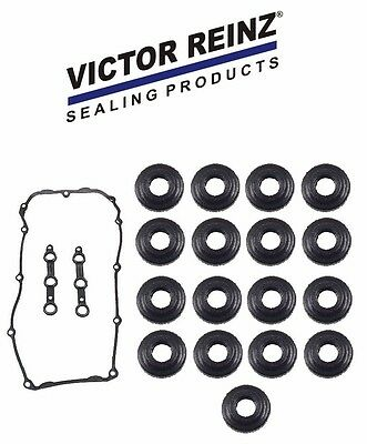 BMW Victor Reinz OEM Germany Valve Cover Gasket Set w/ 17 Bolt Seals E46 E39 Z3