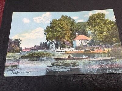 Old postcard Pangbourne Lock