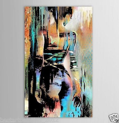Handcraft Modern ABSTRACT Oil Painting on Canvas Nude Girl (No Frame)