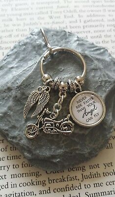 Harley Davidson Never Ride Faster Than Your Angel can Fly Key Ring/Bag charm.