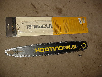 """18"""" Chainsaw Bar For Mcculloch 3214 3216 3516 3518 3816 3818 1101 120 130 340"""