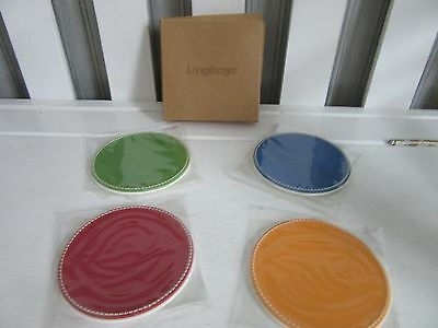 Longaberger Sunny Day Set of 4 Coasters New in box
