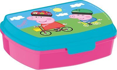 PEPPA PIG WUTZ Brotdose Lunchbox Brotzeitbox Brotbox Dose Vesperbox Kinder