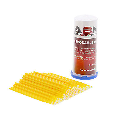 ABN Detail Disposable Micro Fine Brush Applicators (100 Pack)