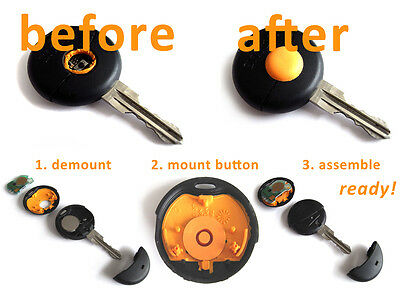 2x Smart repair replacement button knob for key//remote control MC01 450 ForTwo