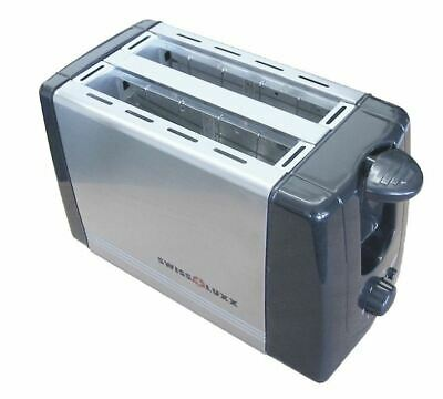Swiss Luxx Low Wattage Stainless Steel Toaster Caravan Motorhome 220-240v 700w