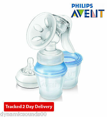 Philips AVENT Comfort Natural Manual Breast Pump with Milk Storage Cup SCF330/13