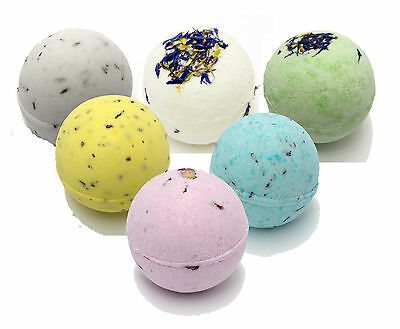 Bee Beautiful 6 x 65g bath bombs (approx 5cm) gift him, her bath fizzers