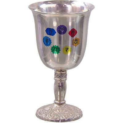 7 Chakra Symbol Stainless Steel Chalice!