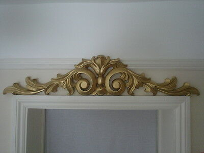 one used large over door pediment gold in colour