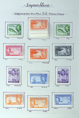 CAYMAN ISLANDS 1938 G.VI to 10/- with Perf Changes/Shades Mounted Mint FP5973