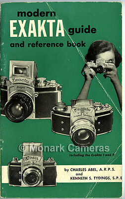 Modern Exakta Guide & Reference Book, More Camera Instruction Manuals Listed