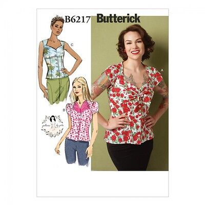 Butterick Ladies Easy Sewing Pattern 6217 Vintage Style Blouse Tops (Butteric...