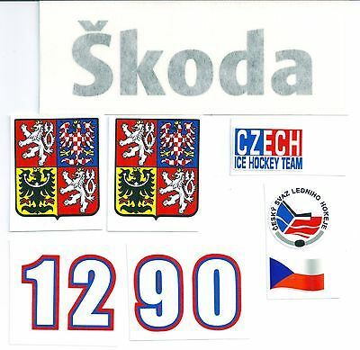 Replicated Czech Hockey Helmet Sticker Decal Set--Jagr Hasek + more Style 2