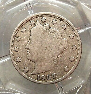 1907-P Fine United States Liberty Head Nickel ......#11884