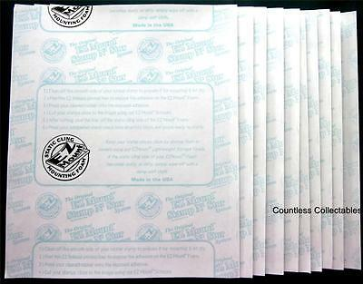 10 Sheets 8.5x11 EZMount Static Cling Foam For Unmounted Rubber Stamps EZ Mount