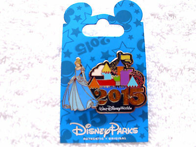 Disney * 2015 Dated - CINDERELLA & CASTLE * New on Card WDW Trading Pin