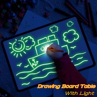 A4 Draw With Light Fun And Developing Drawing Board Kids Educational Gift Toy US
