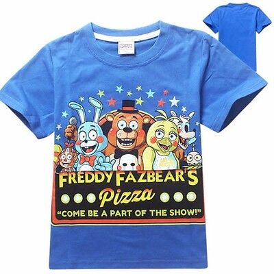 Five Nights at Freddy's t-shirt, tshirt, tops -BLUE- AUSSIE SELLER!! FREE POST!!