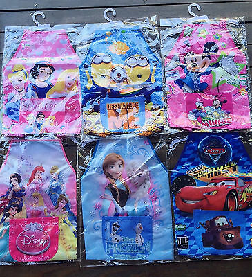 Kid Girl Boy water resist Bib school Apron Art Paint Smock Shirt vest glove 2-8y