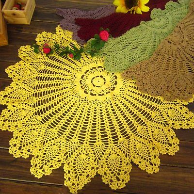 New Crochet Flower Tablecloth Cotton Hollow Table Cover Round Cloth Home Decor