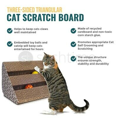 Cat Scratch Bed Sofa Lounger With Free Cat-Nip Cardboard Cat Scratcher Post