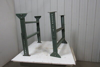 """Conveyor legs Supports 34-1/4"""" Wide Adjustable Height  Lot of 2"""