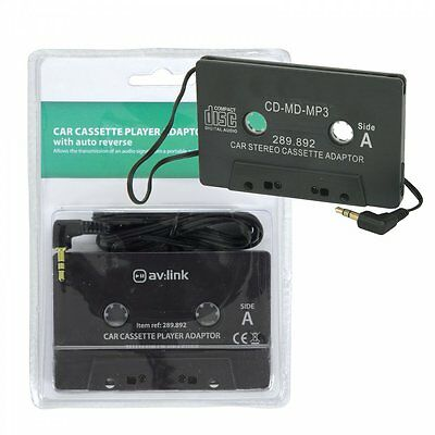 AV:link Car Cassette Player Adaptor for MP3 Devices Like Smart Phones & Pads