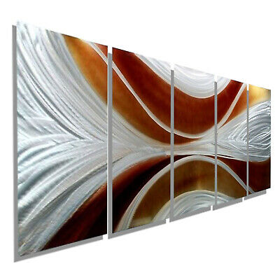 Statements2000 3D Metal Wall Art Painting Modern Silver Golden Decor Jon Allen