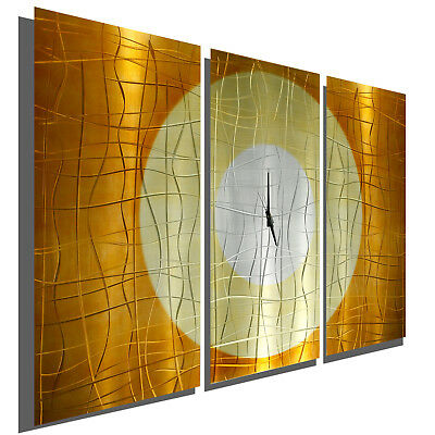 Amazing Modern 3D Metal Wall Clock Art Copper Painting Decor Artist Jon Allen