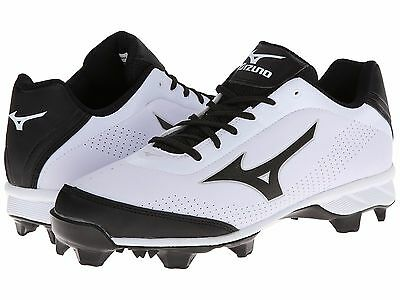 Mizuno 9 Spike Blaze Elite 5 Molded Baseball Cleats NIB White/Black 320446-0090