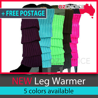 Winter LEG WARMERS Knited Stocking Legging High Womens Party Costume Ankle Socks