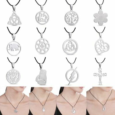NEW Silver Stainless Steel Necklace Pendant Black Chain Charms Gifts unisex Gift