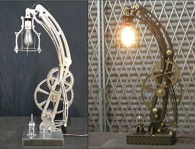 Steampunk STEEL lamp and WOOD lamp patterns dxf format CNC files on CD