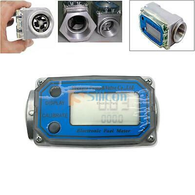 "Turbine Digital Diesel Fuel Flow Meter Oval Gear Flow Gauge BSPT/NPT 1"" 200L/Min"