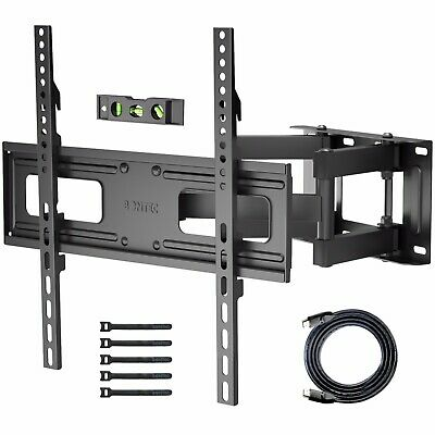 1home Table Pedestal Bracket Stand LCD/LED TV 32 -60 Inch Swivel Height Adjust