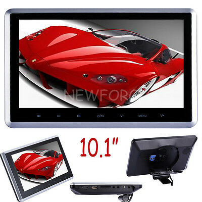"""10.1"""" Active Headrest Car DVD Player Touch Button Monitor IR/FM Game USB/SD/MP5"""