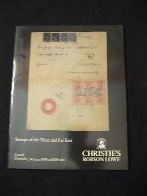 Christie's Lowe Auction Catalogue 1990 Stamps Of The Near And Far East