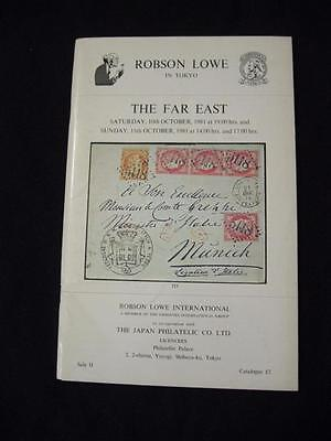 Robson Lowe Auction Catalogue 1981 The Far East