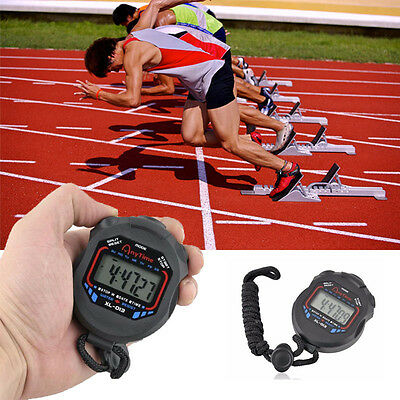 Waterproof Digital LCD Stopwatch Chronograph Timer Counter Sports Stop Watch
