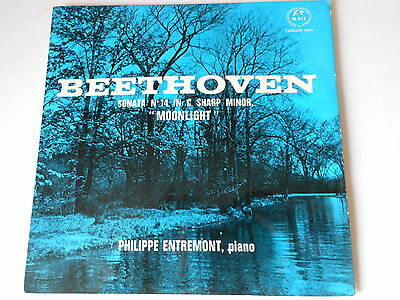 "PHILIPPE ENTREMONT  vinyl 7"" ep record BEETHOVEN sonato no 14 in c sharp"