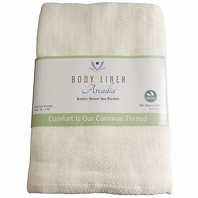 100% Organic Cotton Spa Blanket - by Body Linen