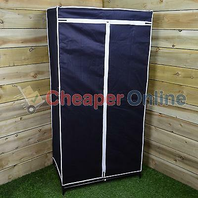 Collapsible Camping or Home Wardrobe with Clothes Rail & Zip- W75 x D50 x H150cm
