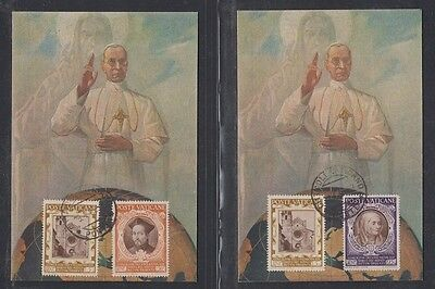 VATICAN, 1946. Post Cards + First Day 110,112-13, Pius X11